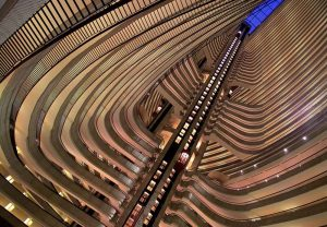 image of a hotel atrium that looks like Seth Mason's photo work