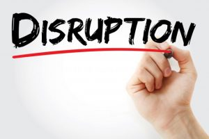 depiction of a disruption of the content marketing industry