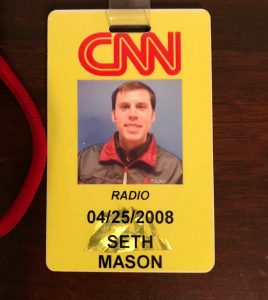 Photo of the CNN Radio identification from Seth Mason of Charleston SC.